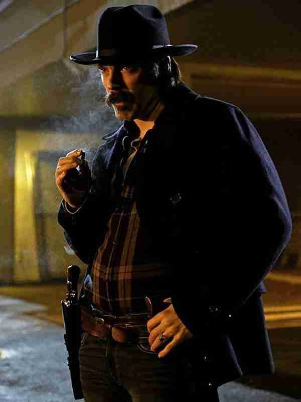Tim Rozon Wynonna Earp Black Wool Coat