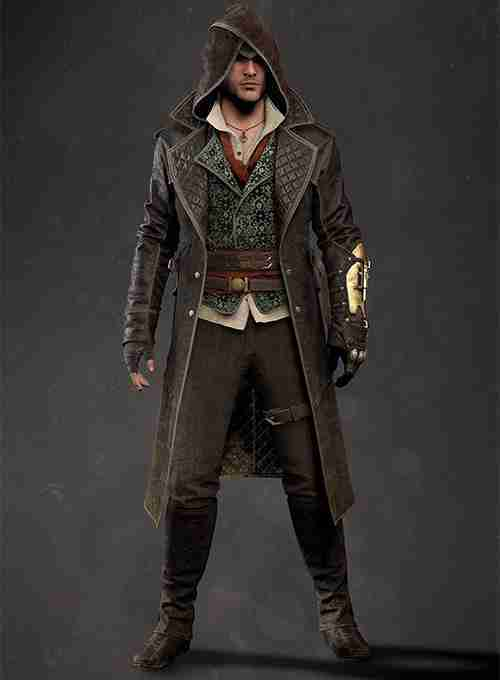 Assassins Creed Syndicate Jacob Frye Leather Coat Front