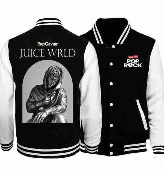 Juice Wrld's black and white varsity jacket