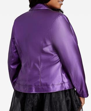 Queen Latifah's (Carlotta Brown) purple metallic moto jacket from Star season 02
