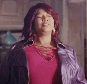 Queen Latifah as Carlotta Brown in Star season 02 in a metallic purple moto jacket