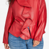 Queen Latifah's red ruffle faux leather jacket from Star Season 02