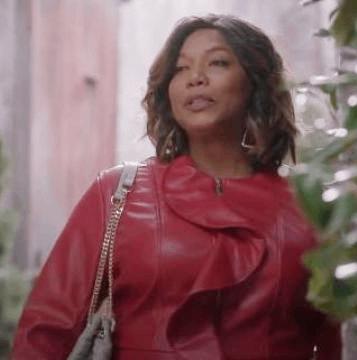 Queen Latifah as Carlotta Brown in Star Season 02 (2016) wearing a red ruffle jacket