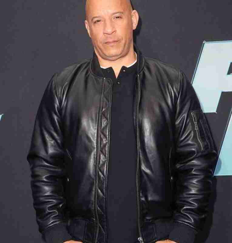 Dominic Toretto Fast & Furious 9 Vin Diesel Black Leather Jacket