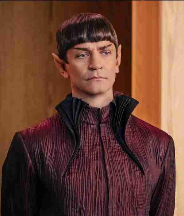 James Frain Star Trek Discovery Sarek Maroon Gown Style Trench Coat
