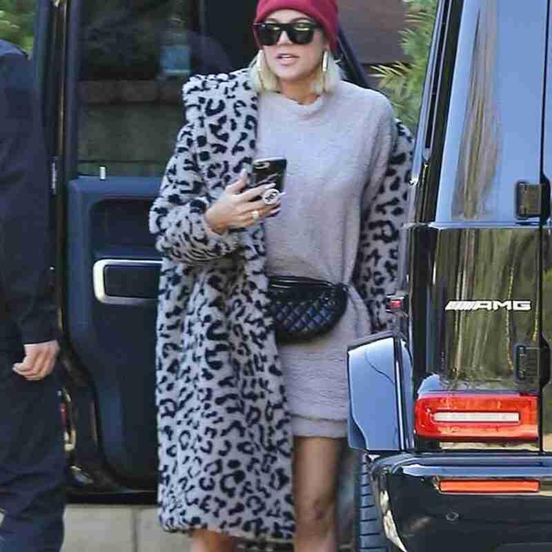 Keeping Up with the Kardashians Khloe Fur Coat