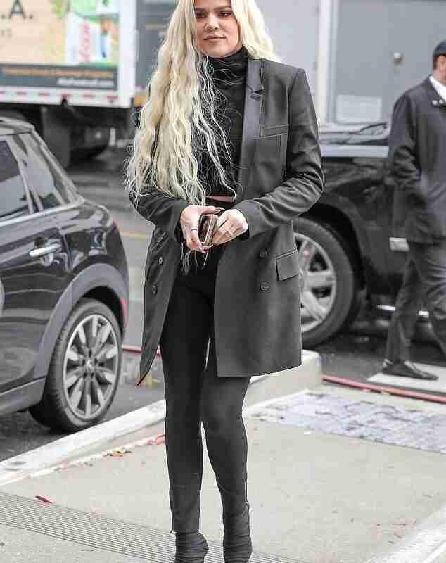 Khloe Kardashian Black Coat