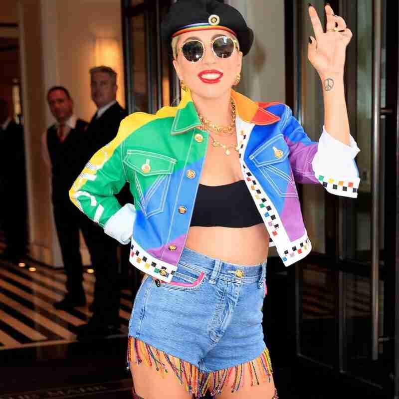 Lady GaGa Rainbow Color Jacket