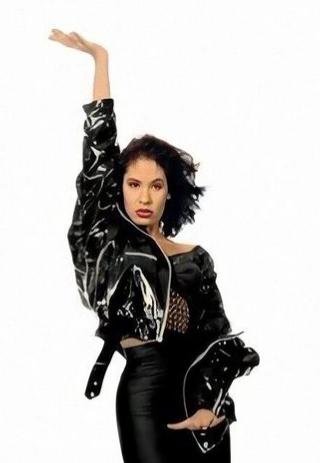 Selena Quintanilla black leather jacket