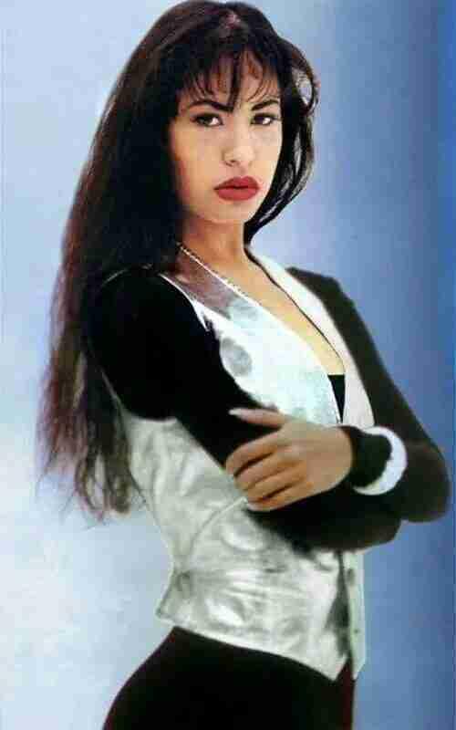 Song Writer Selena Quintanilla American Singer Metallic Leather Vest right
