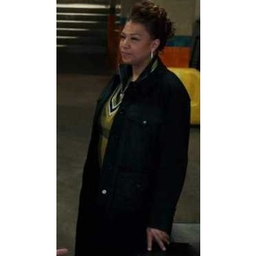 The Equalizer (Queen Latifa) Season 1 Episode 5 Robin McCall Quilted Pocket Coat