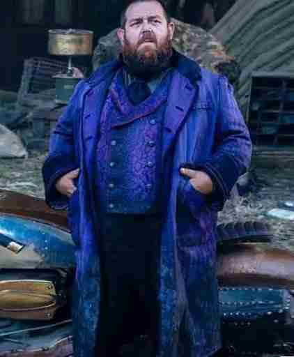The Nevers 2021 Nick Frost Trench Coat Front