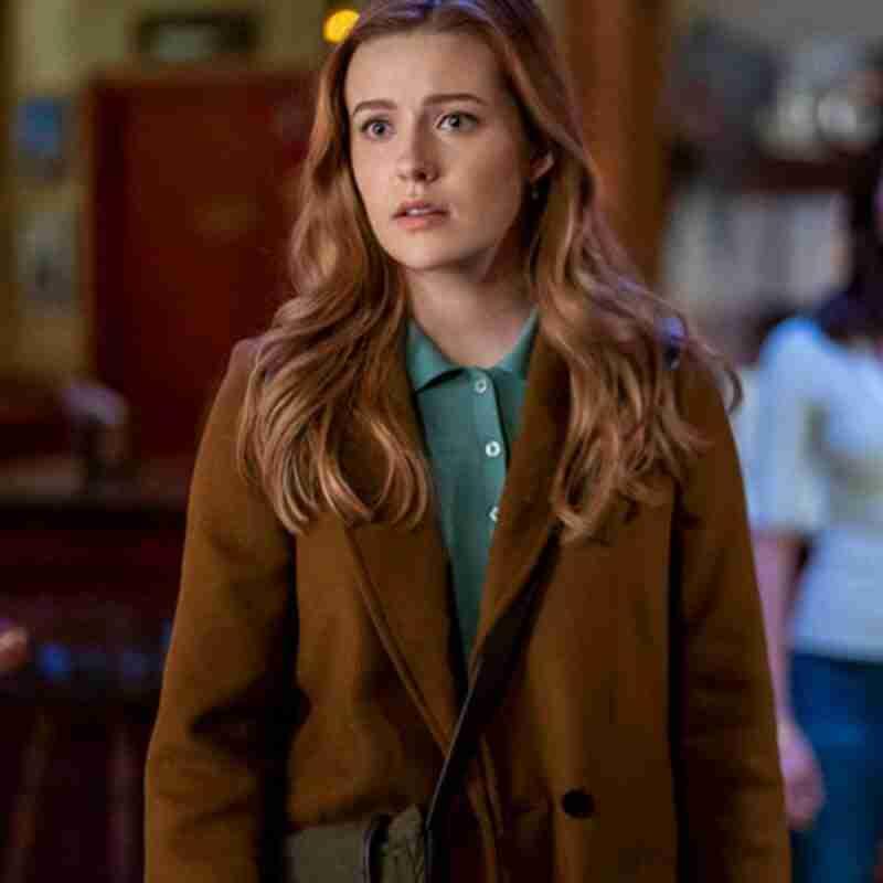 Kennedy McMann Nancy Drew Brown Coat