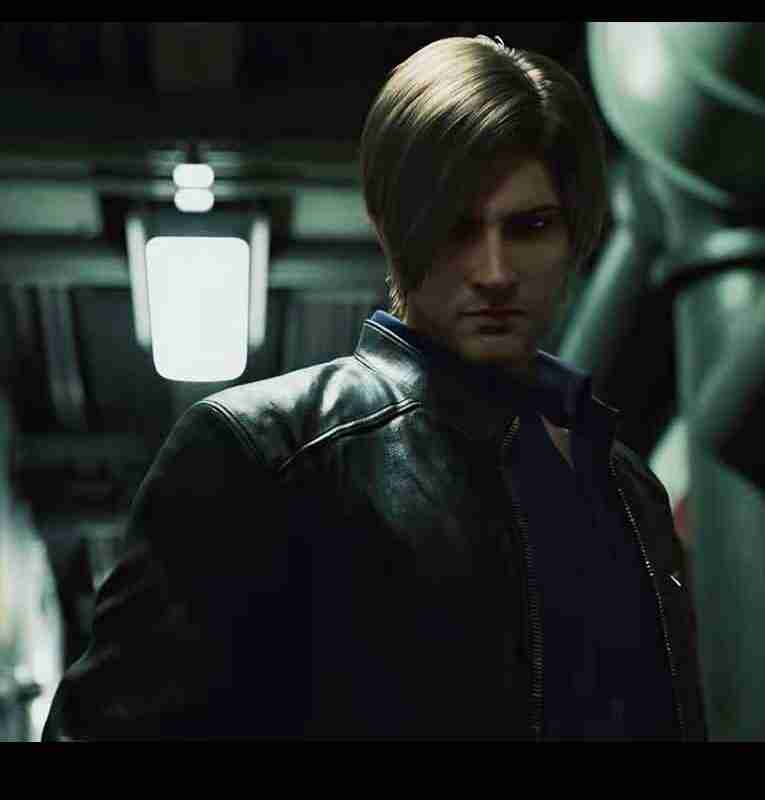 Leon Kennedy Black Resident Evil: Infinite Darkness Leather Jacket