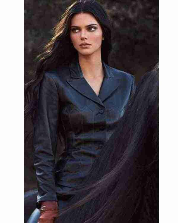 Kendall Jenner Black Leather Jacket