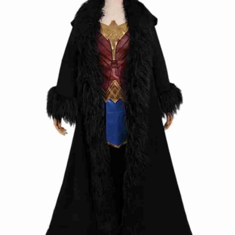 Wonder Woman Gal Gadot 1984 Black Cloak