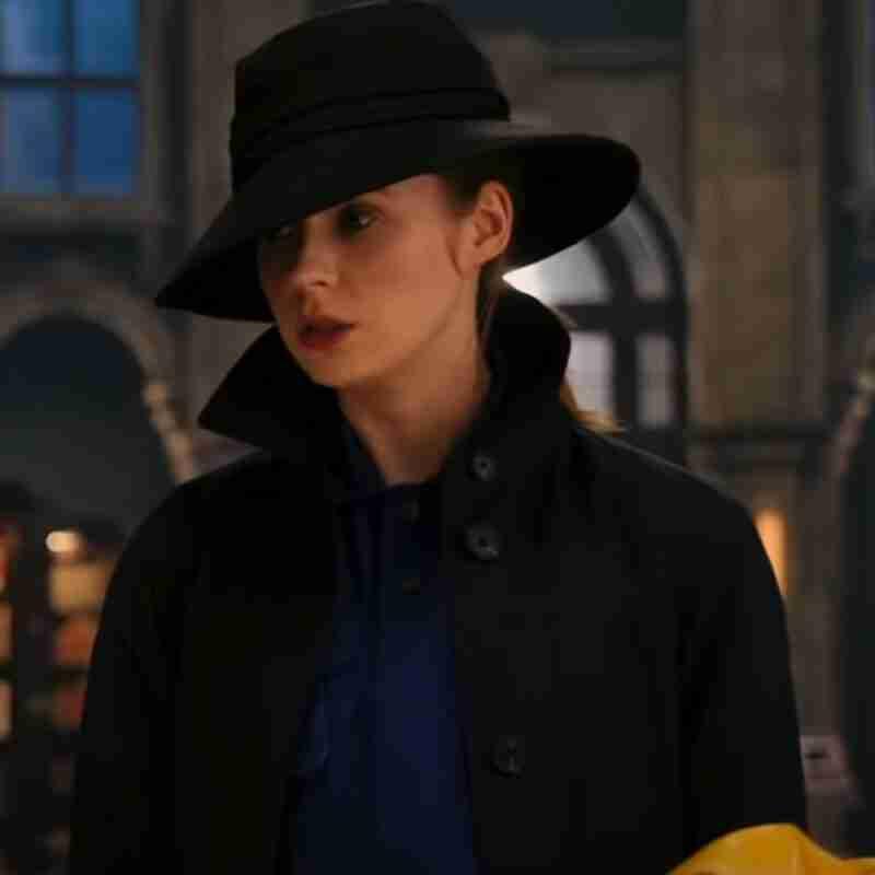 Sam Gunpowder Milkshake (2021) Karen Gillan Black Trench Coat