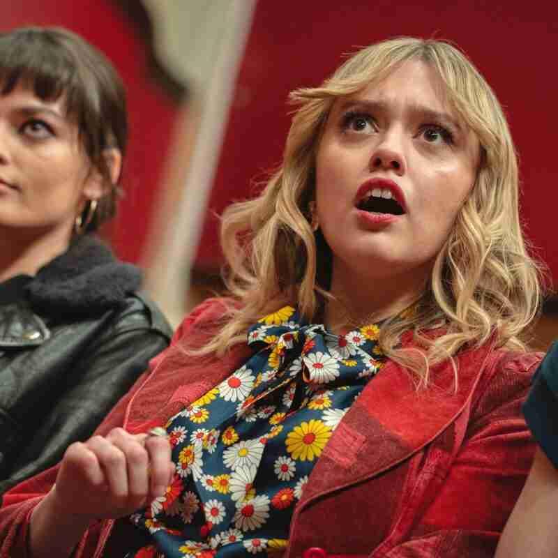Sex Education season 3 Aimee Lou Wood red blazer