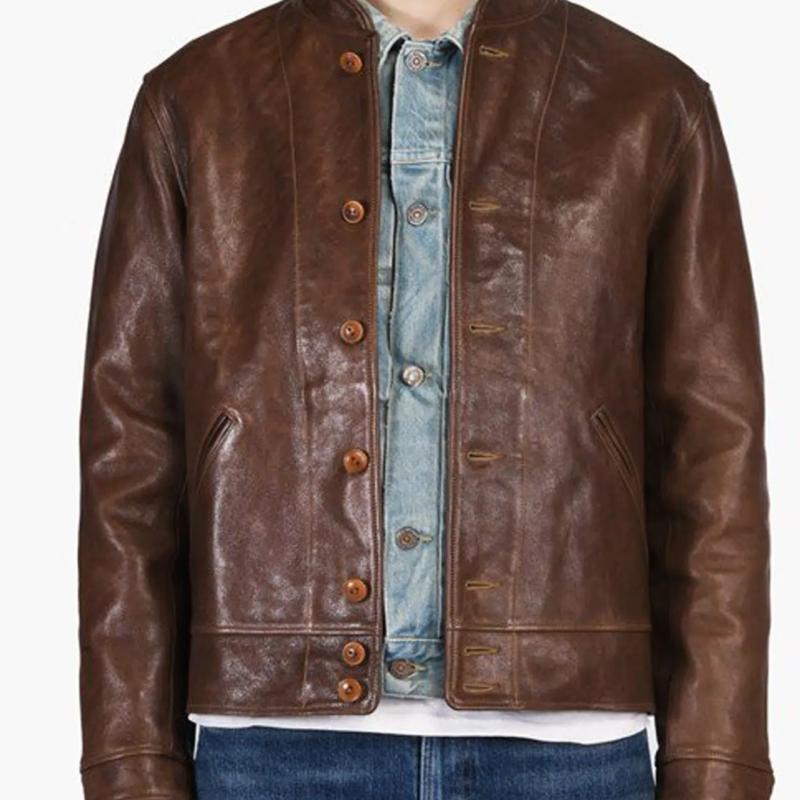 Albert Einstein Brown Vintage Leather Jacket