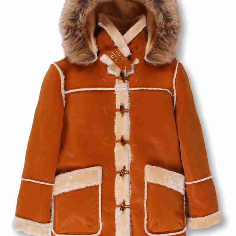 Men's ¾ Toggle Faux Shearling with Detachable Hood