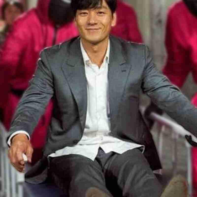 Hae-soo Park TV Series Squid Game 2021 Cho Sang-woo Grey Blazer
