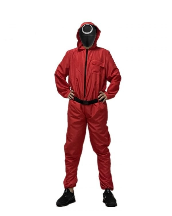Squid Game Guard Cosplay Pink Jumpsuit