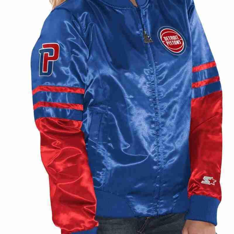 Official Ladies Starter Detroit Pistons Jacket