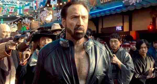 Hero Prisoners of the Ghostland 2021 Nicolas Cage Black Leather Jacket
